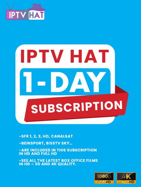 IPTV hat 1 day subscription
